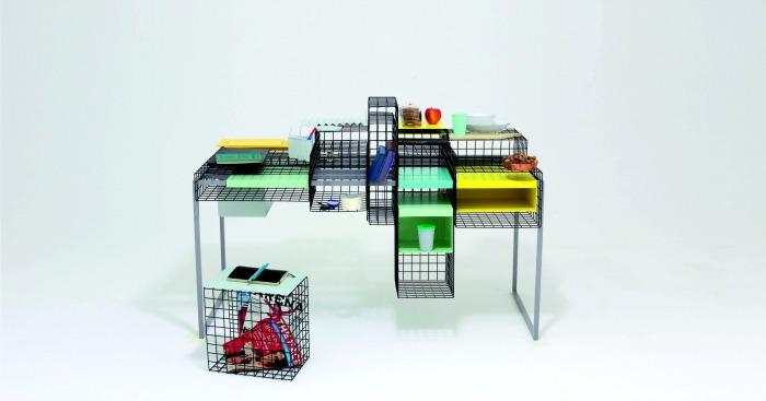 Grid, bureau grillagé imaginé par la designeuse Ying Chang